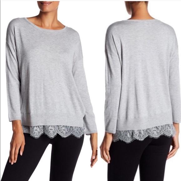 Joie Sweaters - NWOT Joie Hilano Lace Hem Sweater sz S